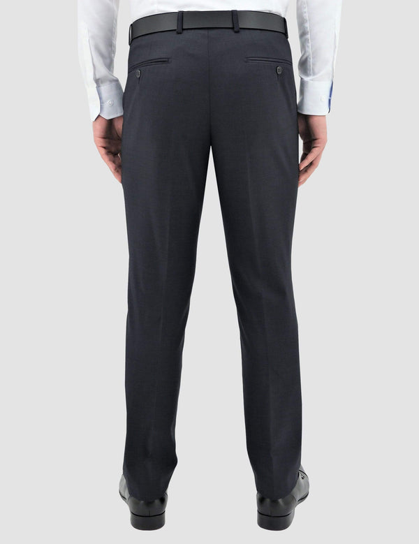 classic fit boston lyon suit in navy pure wool B704-11