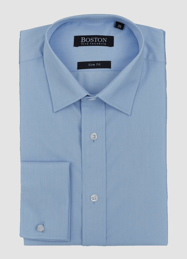 Boston slim fit liberty french cuff shirt in blue
