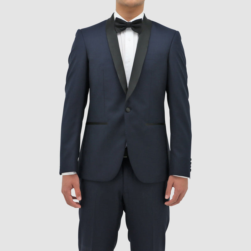 Boston classic fit shawl tuxedo in navy blue pure wool B203-11