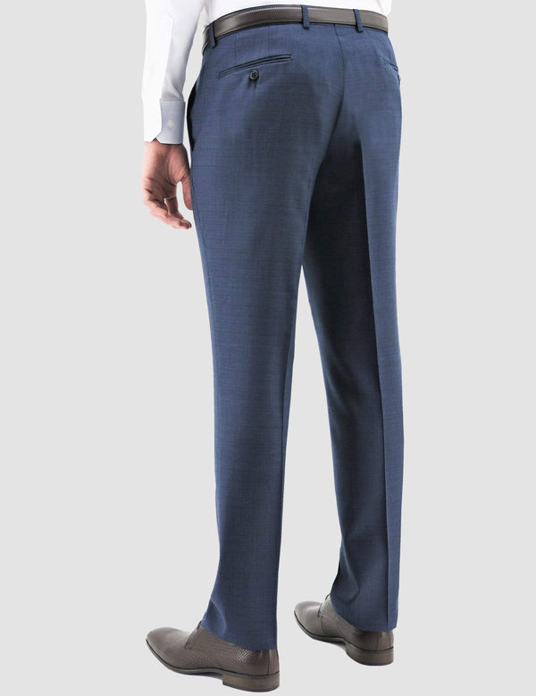 Boston slim fit edward trouser in navy pure wool B102-11