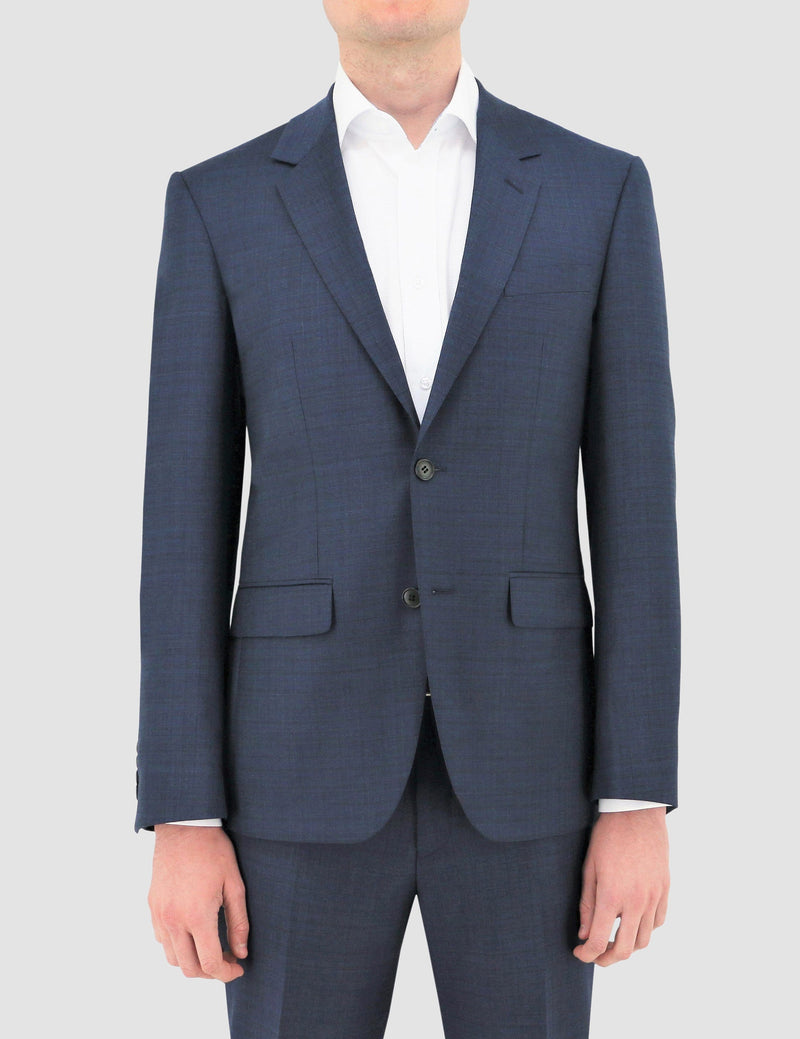 boston slim fit shape suit in navy blue pure wool B102-11 jacket front view