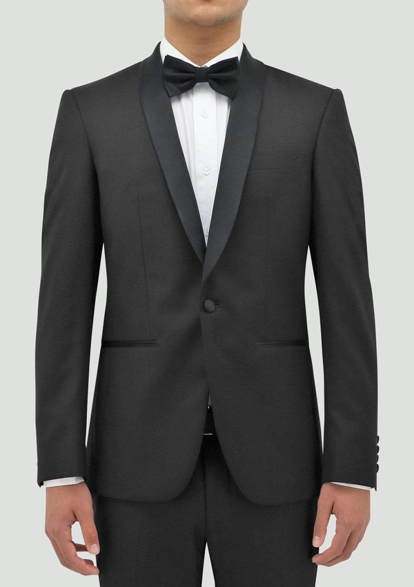 boston classic fit edward tuxedo jacket in black pure wool STB203-01