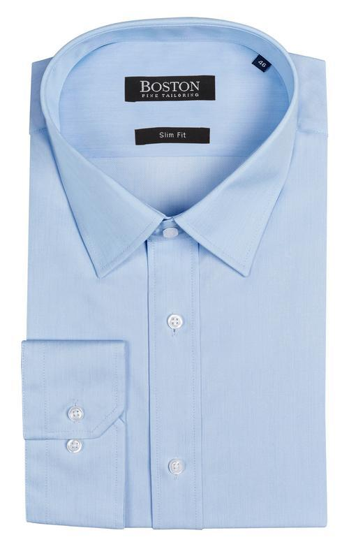 Boston slim fit liberty mens business shirt blue