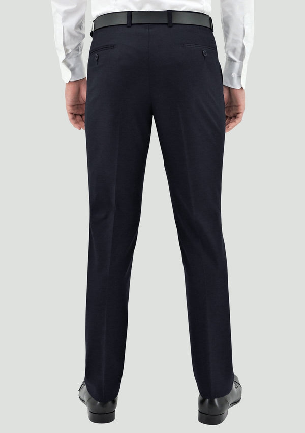 a back view of the boston classic fit lyon mens suit trouser STB106-11