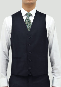 boston classic fit ryan mens suit vest in navy blue wool STB106-11
