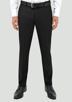 boston classic mens tuxedo suit trouser in black pure wool STB203-01