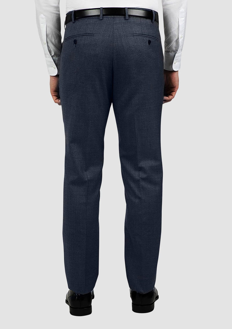 a back view of the cambridge jett mens suit trouser in blue FCG280