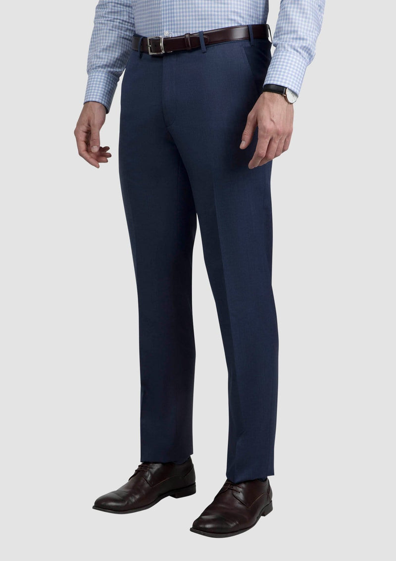 Cambridge classic fit jett trouser in blue FCG279