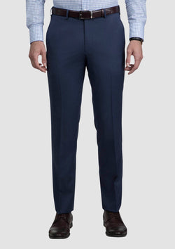 cambridge menswear the jett trouser in blue woll blend FCG279
