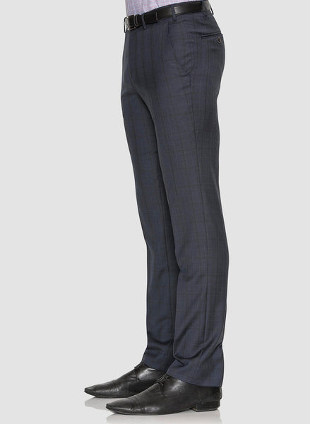 Cambridge classic fit interceptor trouser in navy pure wool
