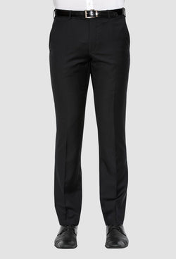 a front on view of the cambridge jett trouser in black F262 back