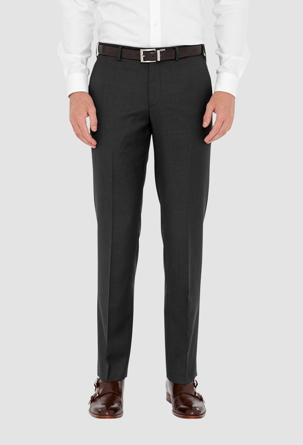 a front on view of the cambridge jett trouser for men in charcoal F2042