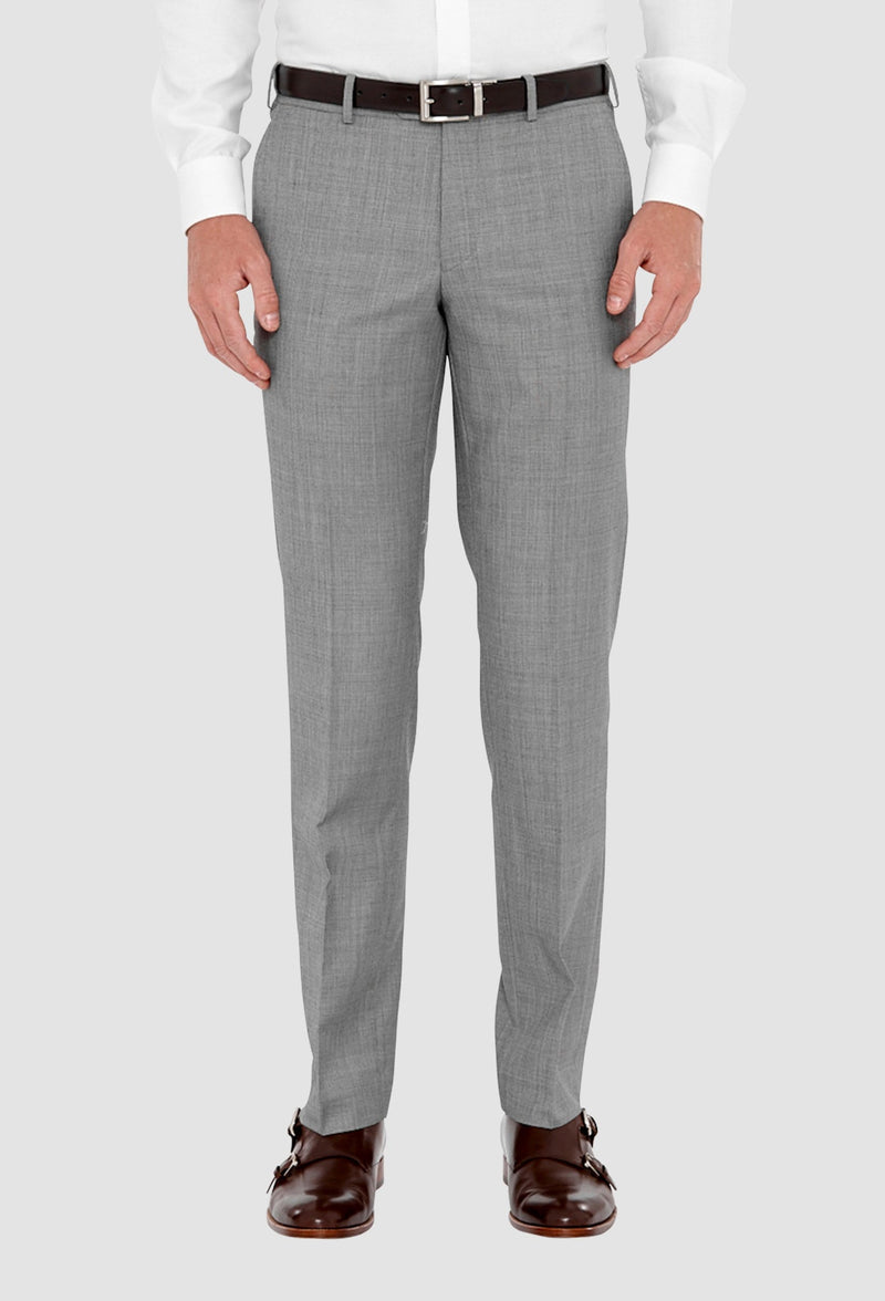 a front on view of the cambridge jett trouser in grey F2042