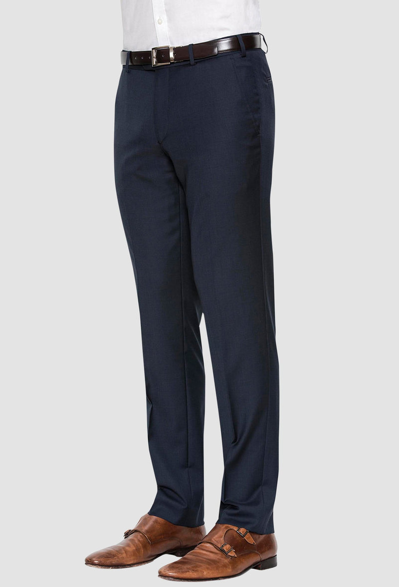 a side view of the cambridge jett trouser in navy F2042