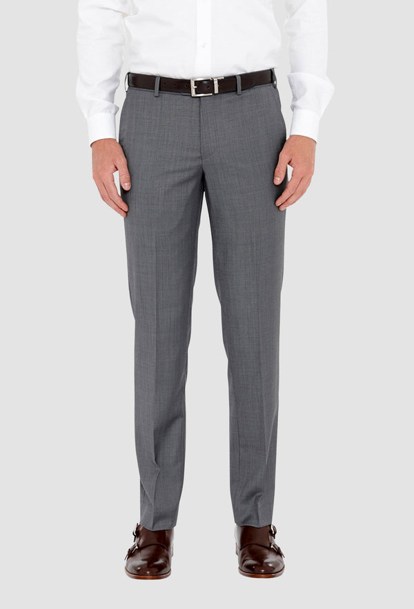 a front on view of the cambridge jett mens suit trouser in steel F2042