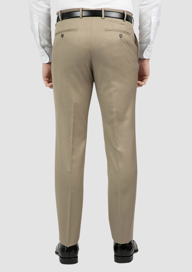 a back view of the classic fit mens jett trouser in camel FCG283