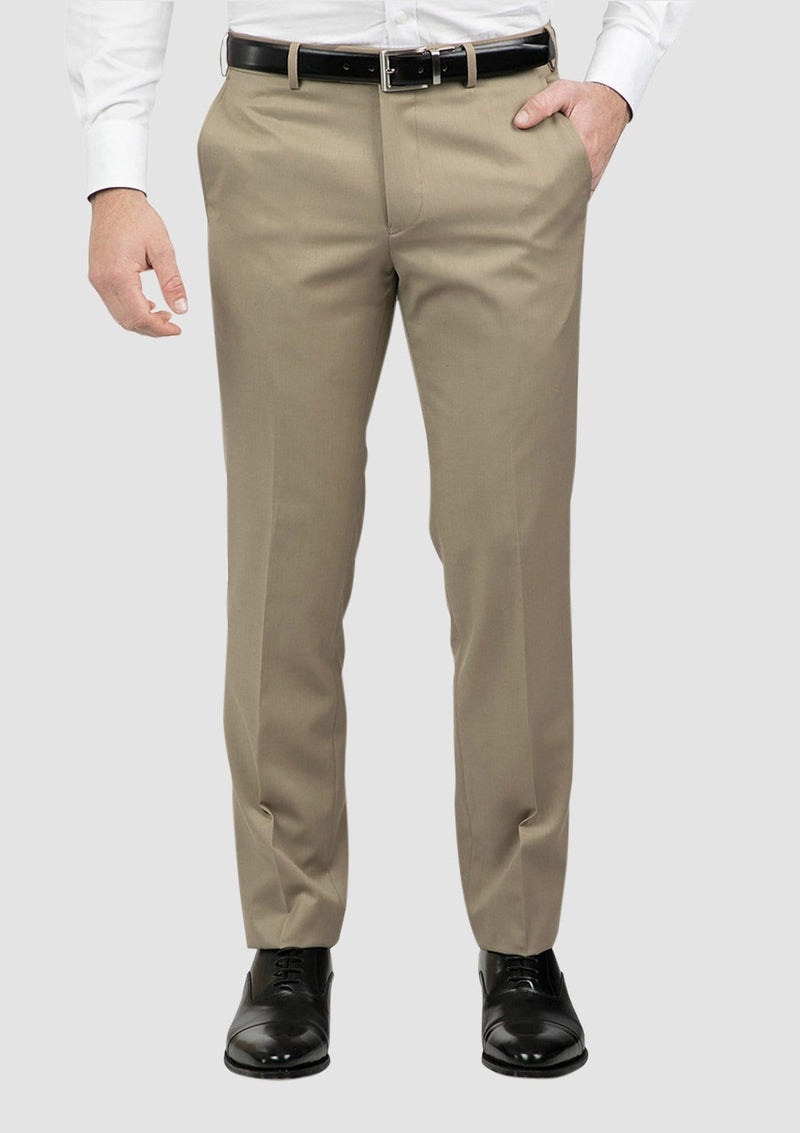 a front view of the classic fit mens jett trouser in camel FCG283