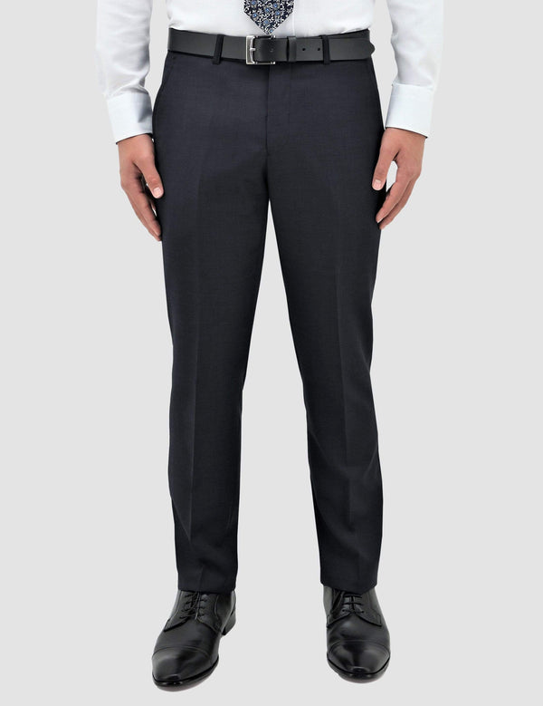 classic fit boston lyon suit trouser in navy pure wool B704-11 front view