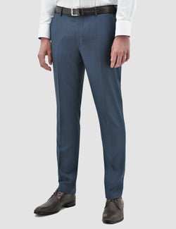 a models wears the daniel hechter slim fit edward trouser in navy blue pure wool DH210-12