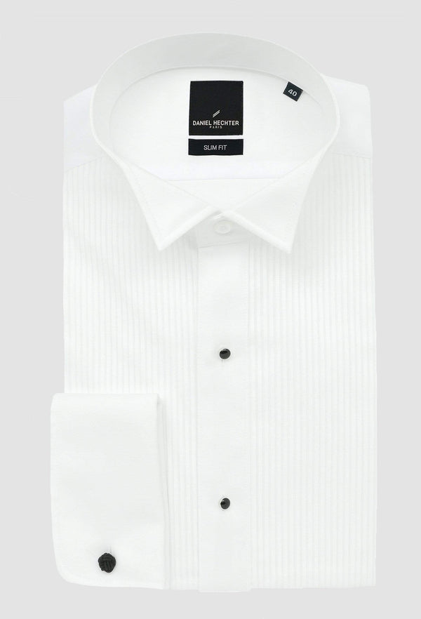Daniel Hechter slim fit wing stud shirt in white
