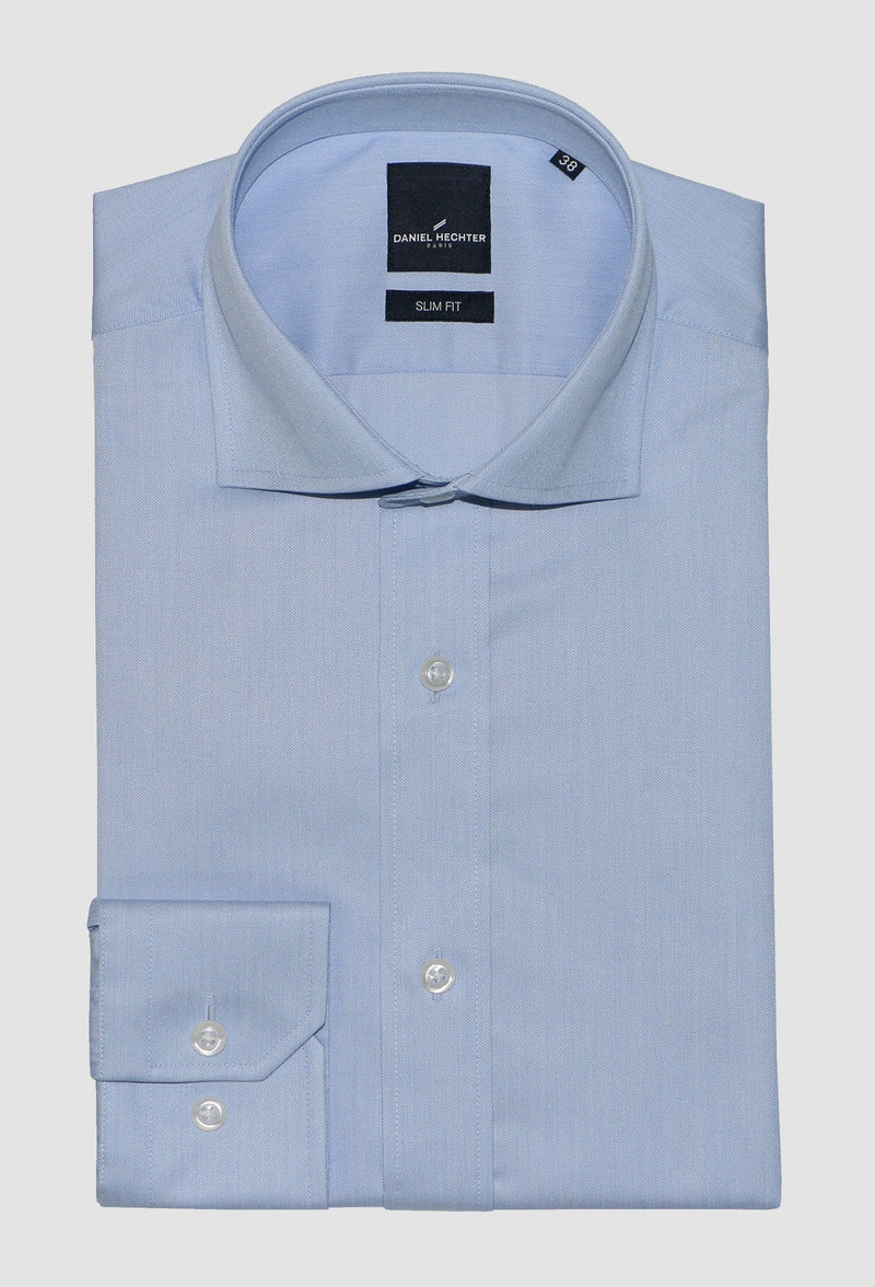 Jacque Business Shirt by Daniel Hechter folded on a grey background