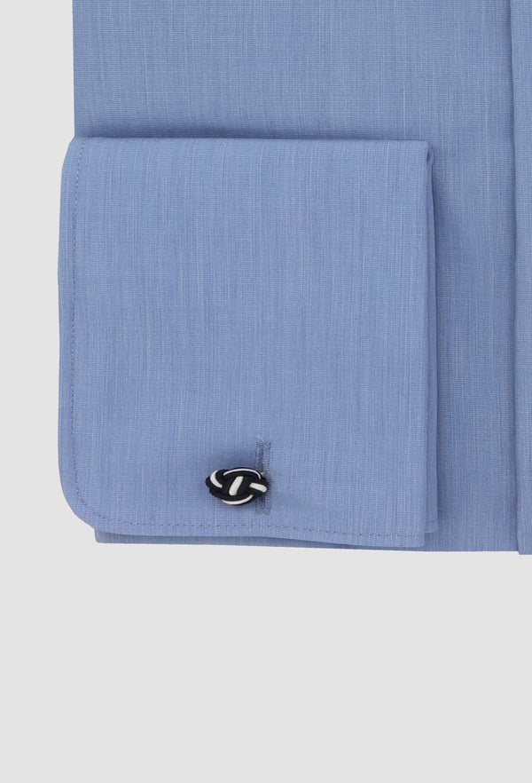 The french cuff detail on the daniel hechter slim fit shape mens business shirt