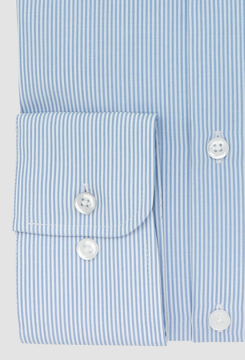 a close up view of the daniel hechter slim fit shape shirt with normal cuff