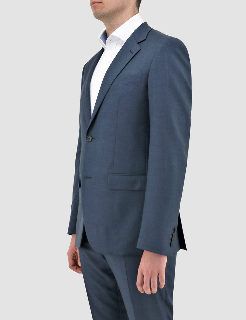 daniel hechter slim fit shape suit in. blue pure wool DH210