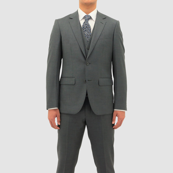 Daniel Hechter slim fit shape suit in grey pure wool