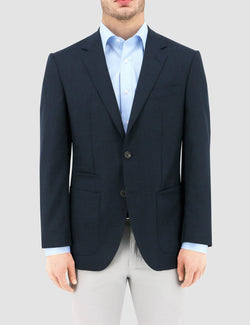 a front view of the daniel hechter slim fit pure wool sportscoat in navy DH103-11