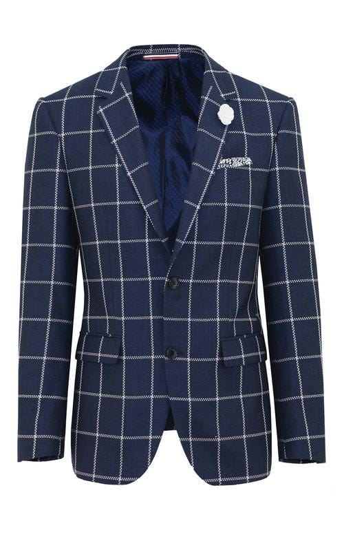 slim fit daniel hechter navy wool sports jacket SHAPE DH389-11