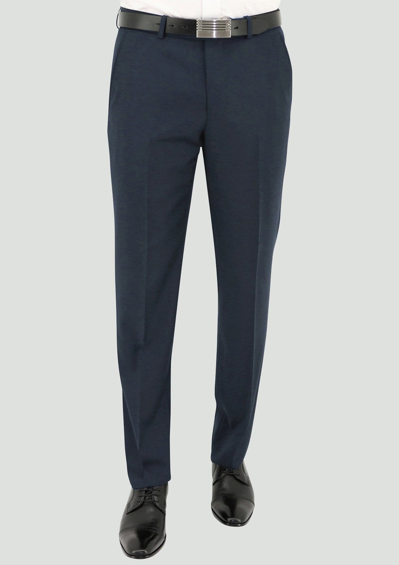 a front on view of the daniel hechter slim fit edward trouser in deep blue merino wool