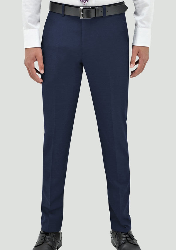 a front view of the Daniel Hechter slim fit edward trouser in deep blue pure wool DH106-14