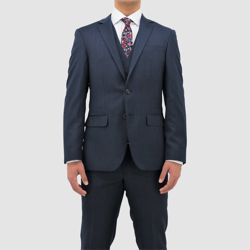 Daniel Hechter classic fit michel suit in blue pure wool STDH101-12