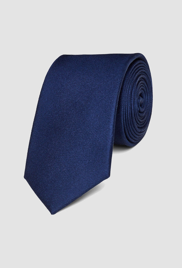 Gibson classic silk tie in navy pure silk
