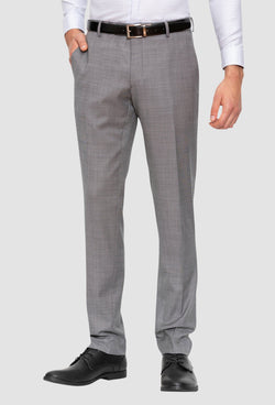 A front view of the Gibson slim fit caper trouser in grey pure wool FGE645