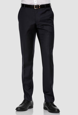 a front on view of the Gibson slim fit caper trouser in navy pure wool FKC020T