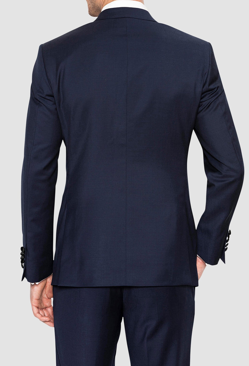 Gibson slim fit quantum evening suit in navy pure wool