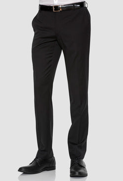 A front on view of the gibson slim fit rebellion trouser in black pure wool F34087