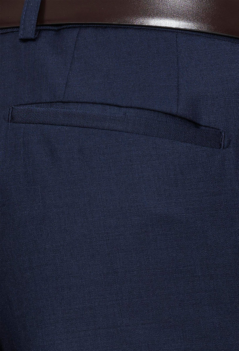 Gibson slim fit rebellion trouser in navy pure wool