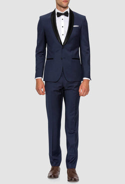 Gibson slim fit spectre evening suit in navy pure wool