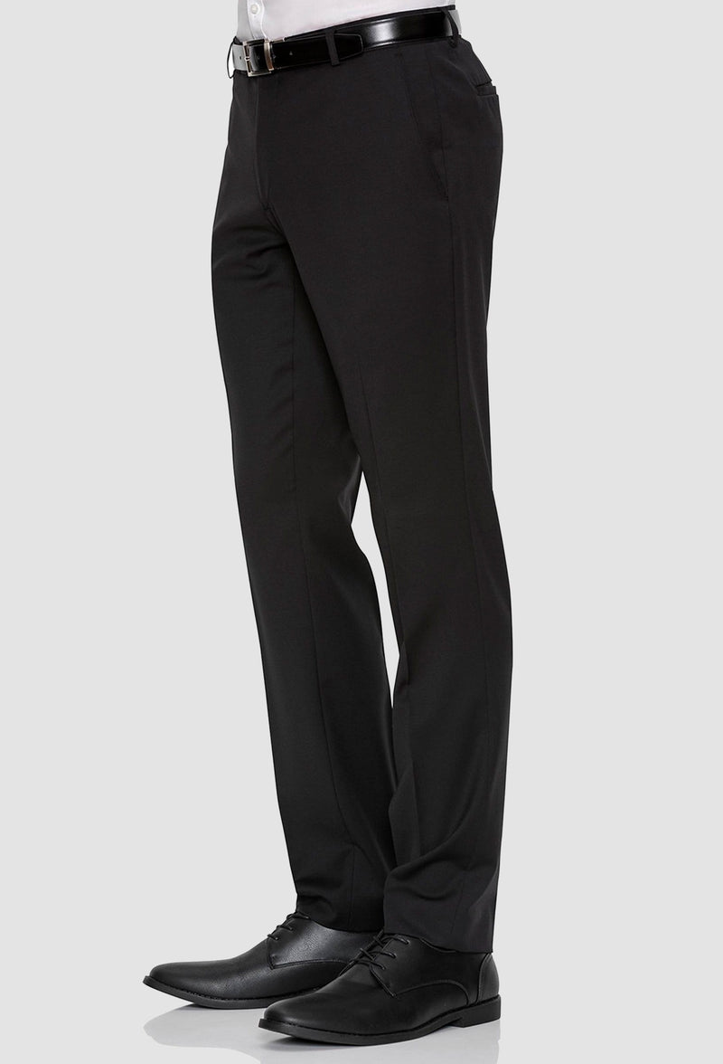 Gibson slim fit rebellion trouser in black pure wool