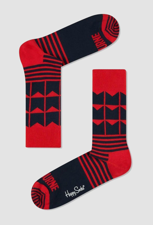 happy socks afl melbourne football team sock SMEL01-0100