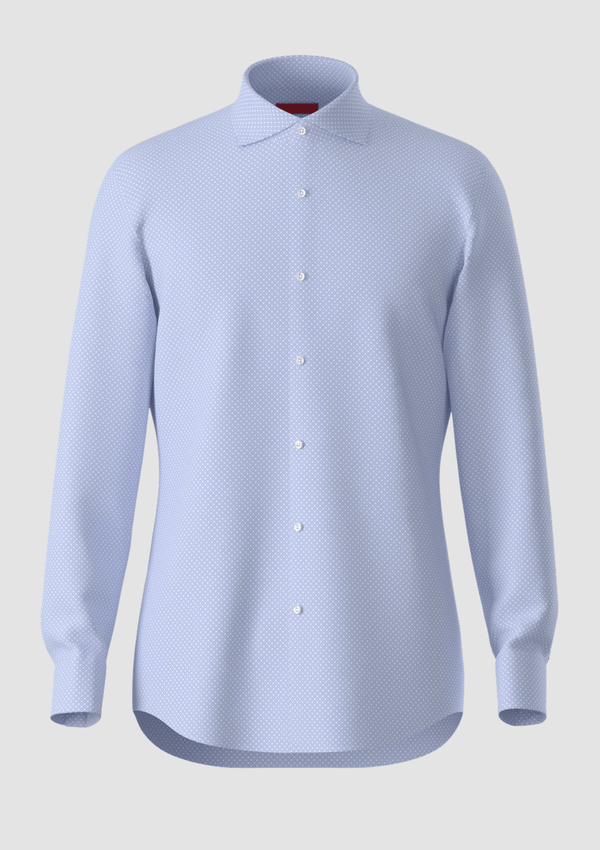 slim fit hugo boss shirt a front view of the 100% cotton mens kason shirt from boss