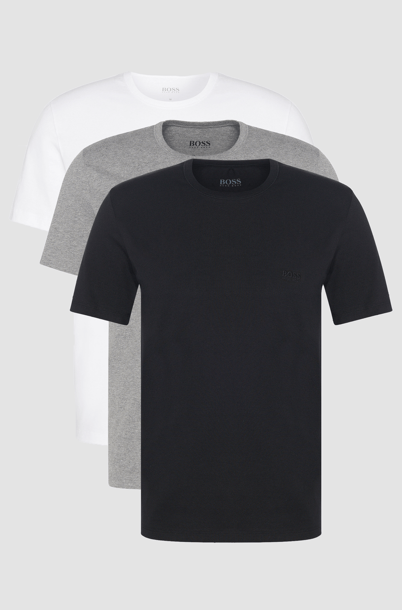 hugo boss three pack of crew neck mens cotton t-shirts 50325388