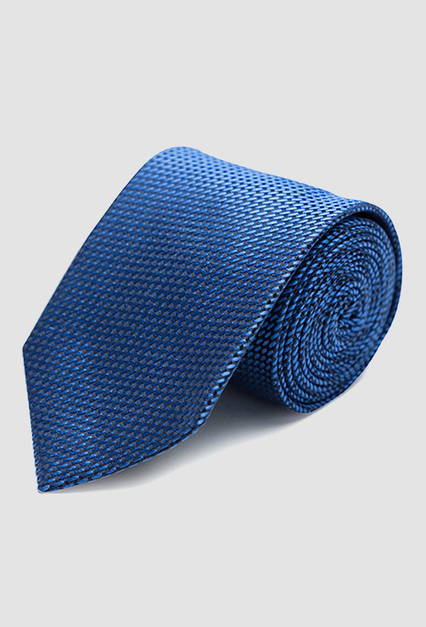 The Joe Black classic longstitch knot tie in blue PJAE000001