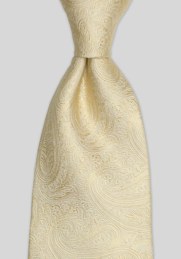 Joe Black paisley jacquard tie in gold silk