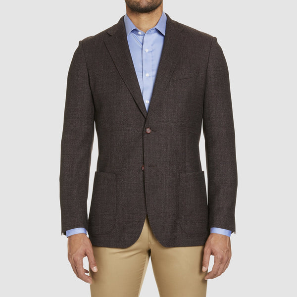 front view of the slim fit studio italia clive sports jacket in shiraz bugundy pure australian wool wool ST-460-81