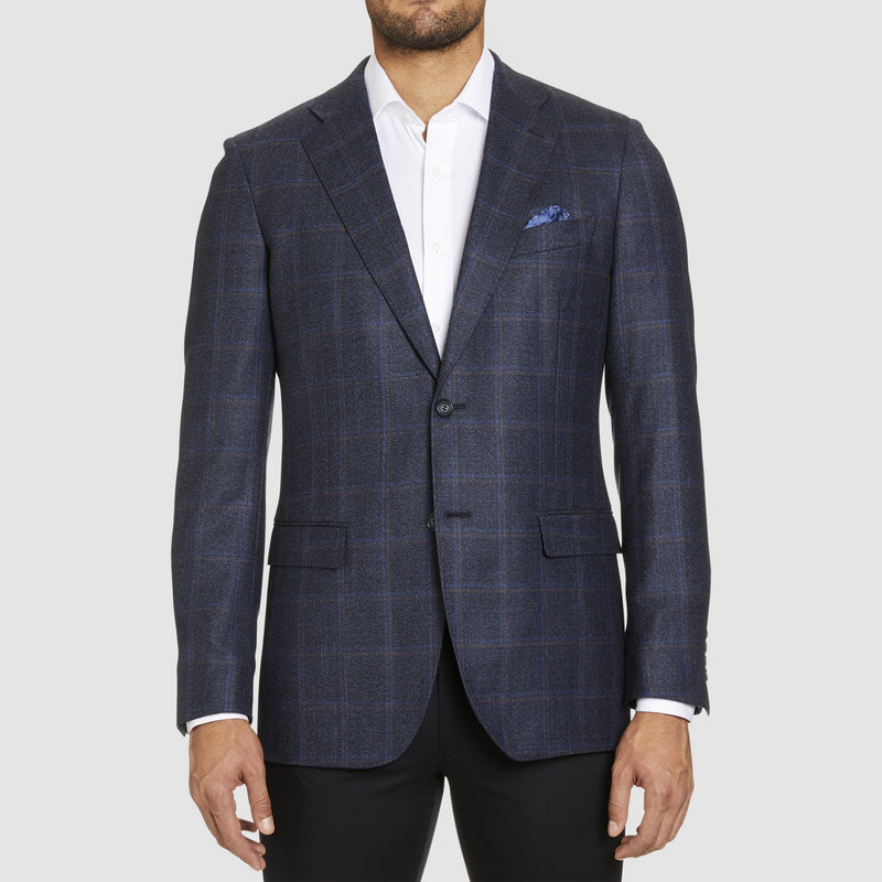 a front view of the slim fit studio italia jacob jacket in navy australian pure wool ST-466-11