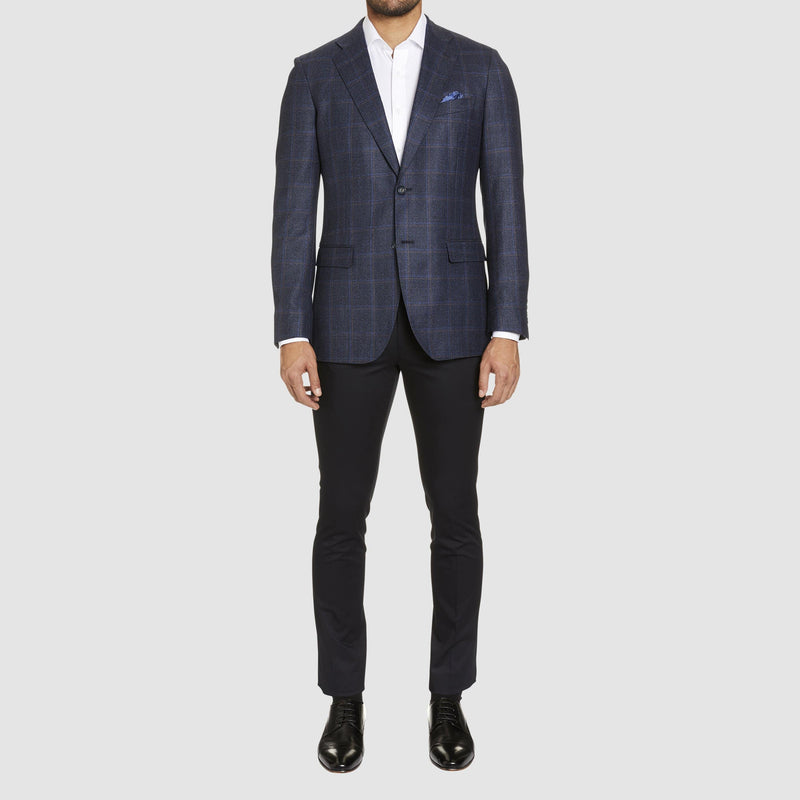 Studio Italia slim fit jacob jacket in navy pure australian wool